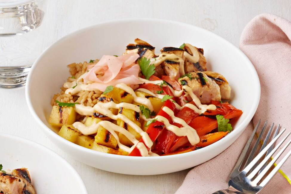Grilled Tuna Rice Bowl