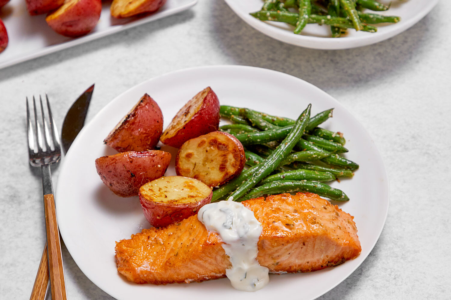 One-Pan Greek Salmon and Veggies