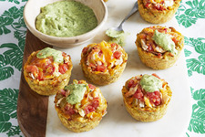 Cheesy Chicken Plantain Cups