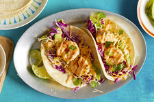 Shrimp Tacos with Sriracha Sauce