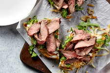 Caramelized Onion and Steak Flatbread