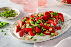 Strawberry & Sugar Snap Pea Salad