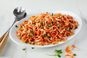 Spiralized Carrot Salad