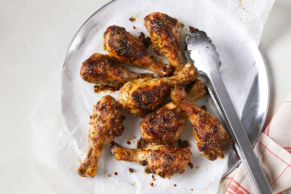Parmesan-Garlic Chicken Drumsticks