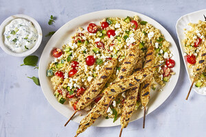 Chicken Kofta with Tabouleh