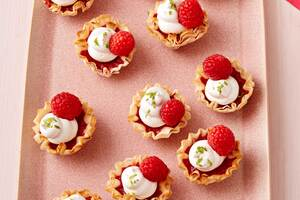 Raspberry-Lime 'Meringue' Mini Pies