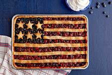 Stars-and-Stripes Berry Slab Pie