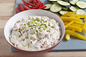 Roasted Red Pepper and Green Onion Dip