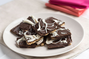 Marbled-Chocolate Graham Crackers
