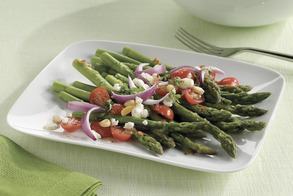 Asparagus, Tomato and Goat Cheese Salad