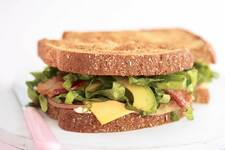 Avocado, Bacon, Ham & Cheese Sandwich