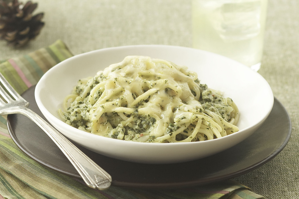 Spaghetti with Green Sauce