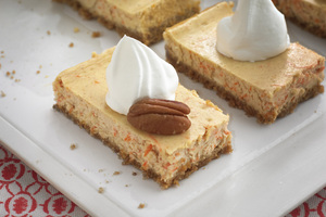 Carrot Cheesecake Bars