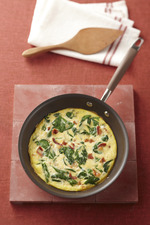 Quick Four-Ingredient Spinach Frittata