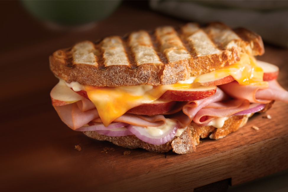 Cheesy Ham and Apple Panini