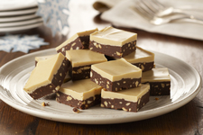 Layered Chocolate-Peanut Butter Fudge