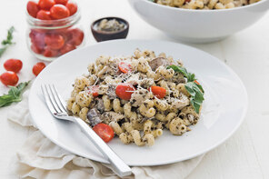 Chicken-Pesto Cavatappi with Parmesan
