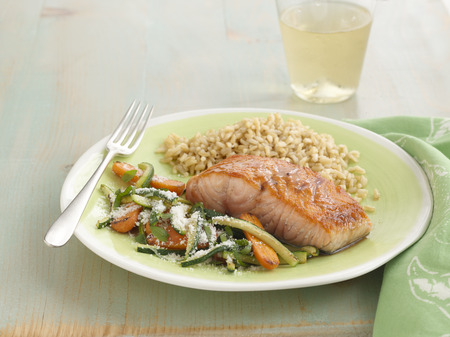 Healthy Living Salmon Dinner Menu