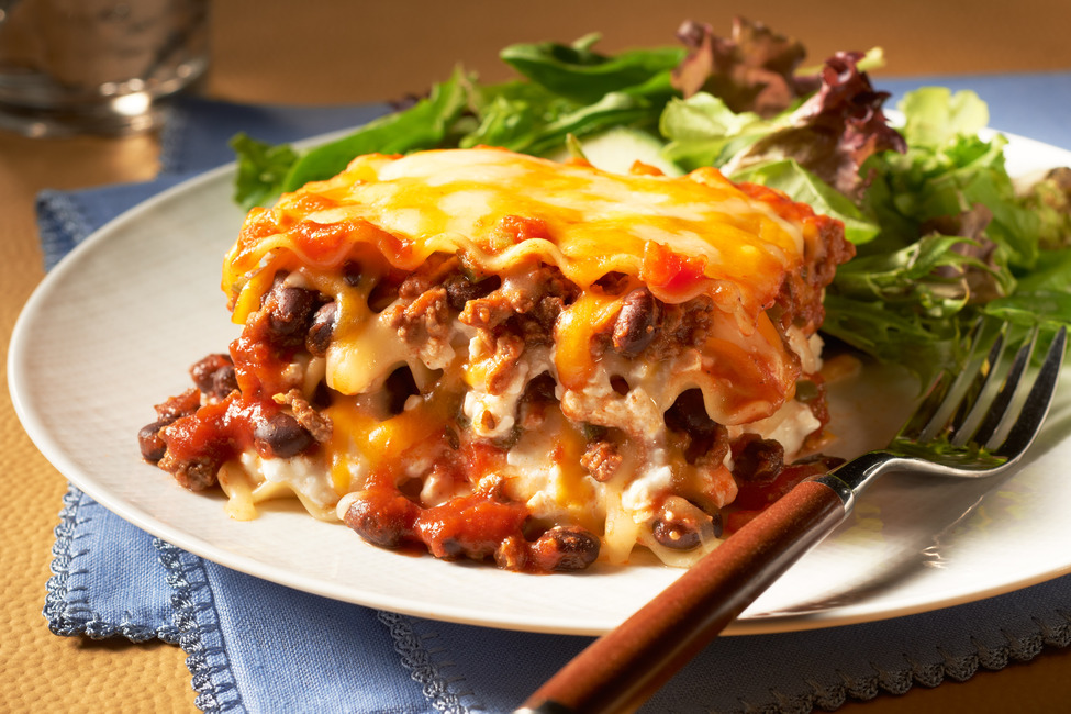 Make-Ahead Chili & Cheese Lasagna