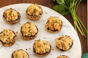 Double-Cheese Stuffed Mushrooms Recipe