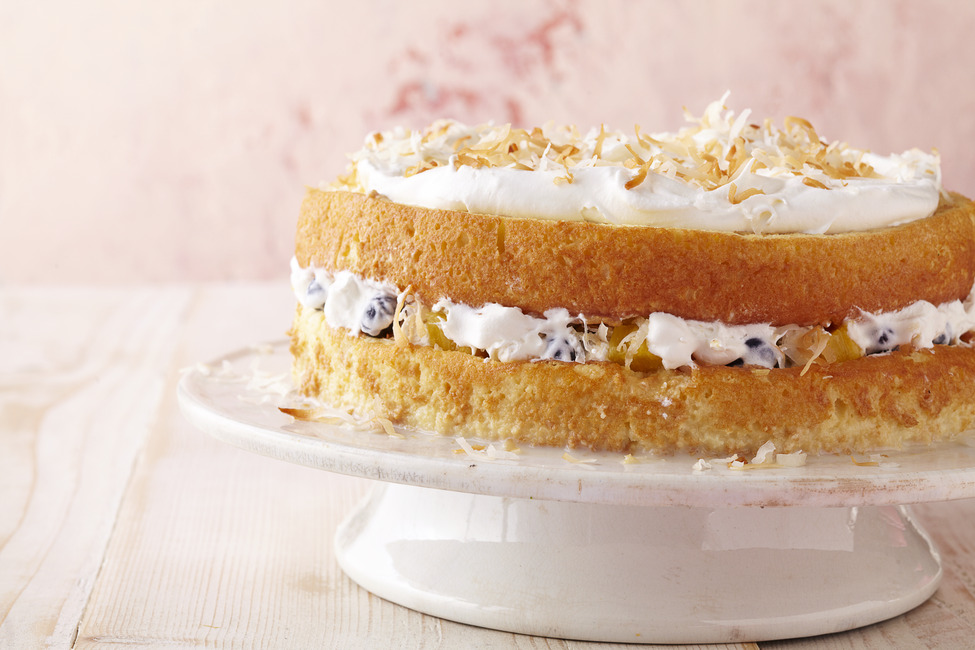 Layered Coconut Tres Leches Cake