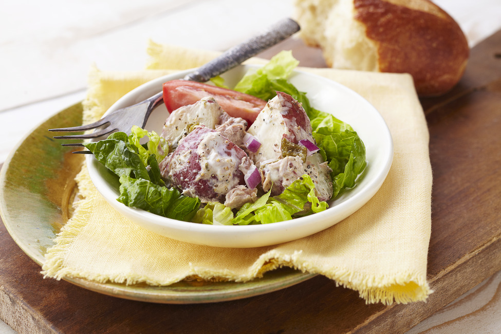 Ranch Tuna and Potato Salad with Roasted Jalapenos