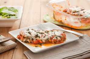 Eggplant Parmesan for Two