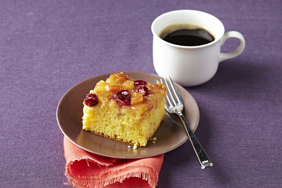 Caramelized Apple-Cranberry Cake