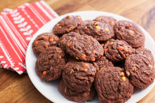 Chocolate-Peanut Butter Pudding Cookies