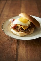BBQ Beef, Bacon & Egg Open-Face Sandwiches