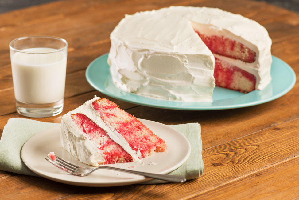 JELL-O® Strawberry Poke Cake