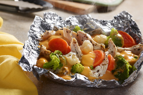 VELVEETA® Easy Chicken Campfire Packs