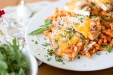 Easy Grilled Chicken-Parmesan Dinner