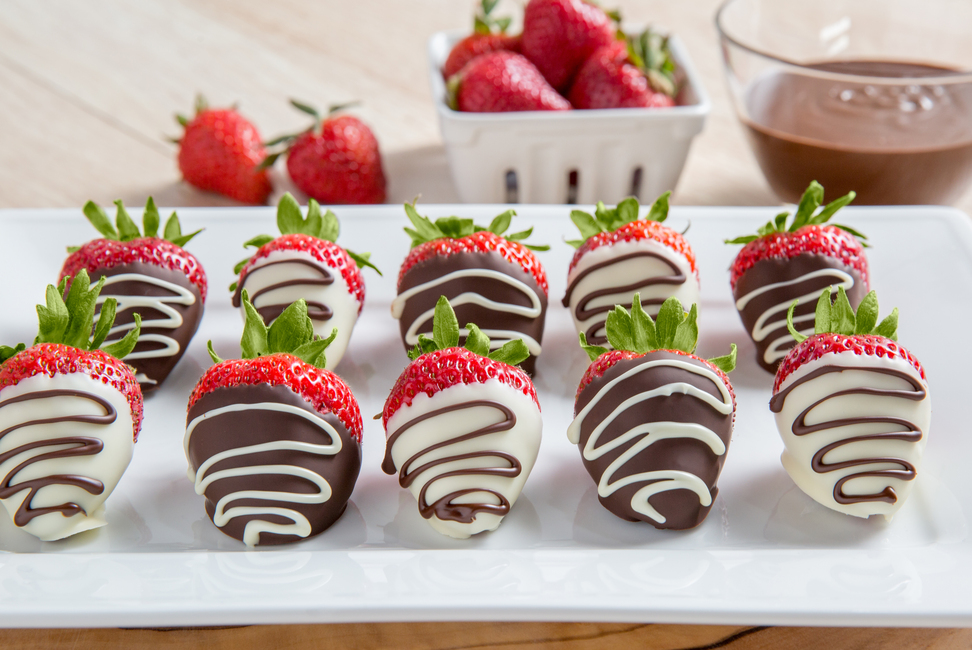 Dipped Chocolate-Drizzled Strawberries - My Food and Family