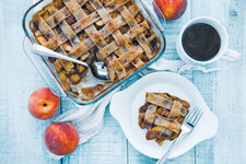Lattice-Topped Peach Cobbler