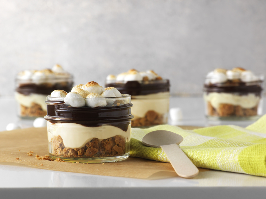 PHILADELPHIA No-Bake S'mores Parfaits