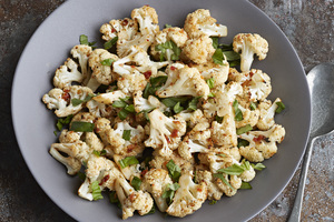 Sun Dried Tomato-Basil Roasted Cauliflower