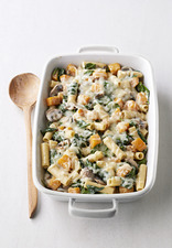 Baked Ziti with Squash & Mushrooms