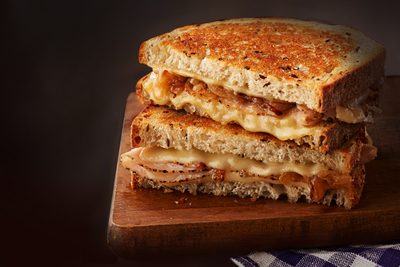 Grilled Swiss Cheese, Turkey & Onion Sandwich