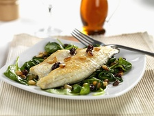 Whitefish Fillets with Spinach for Two