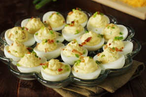 Cheddar-Bacon Deviled Eggs