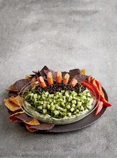 Creepy Halloween Pesto Dip