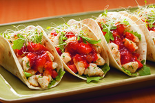 Easy Crab Tacos with Cocktail Sauce