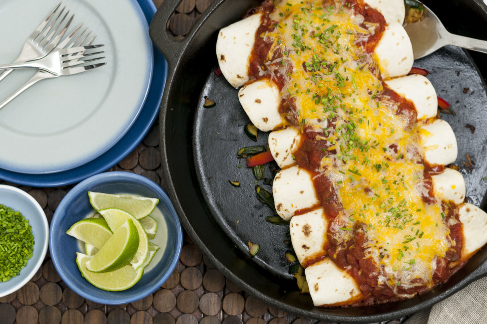 Skillet Garden Vegetable Enchiladas