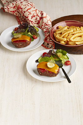 Mini Cheeseburger Meatloaves