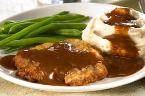 Chicken-Fried Steak with Beef Gravy