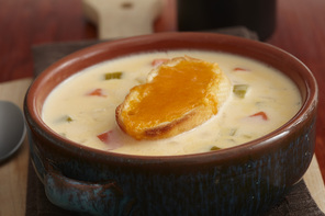 Velvety Grilled Cheese Soup