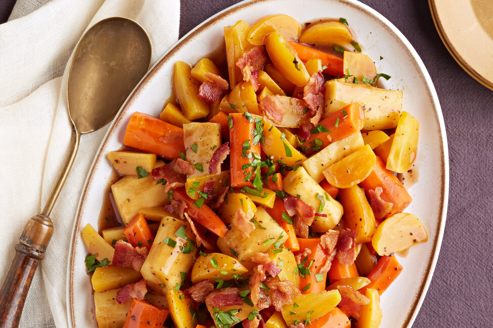 Slow Cooker Roasted Root Vegetables My Food And Family