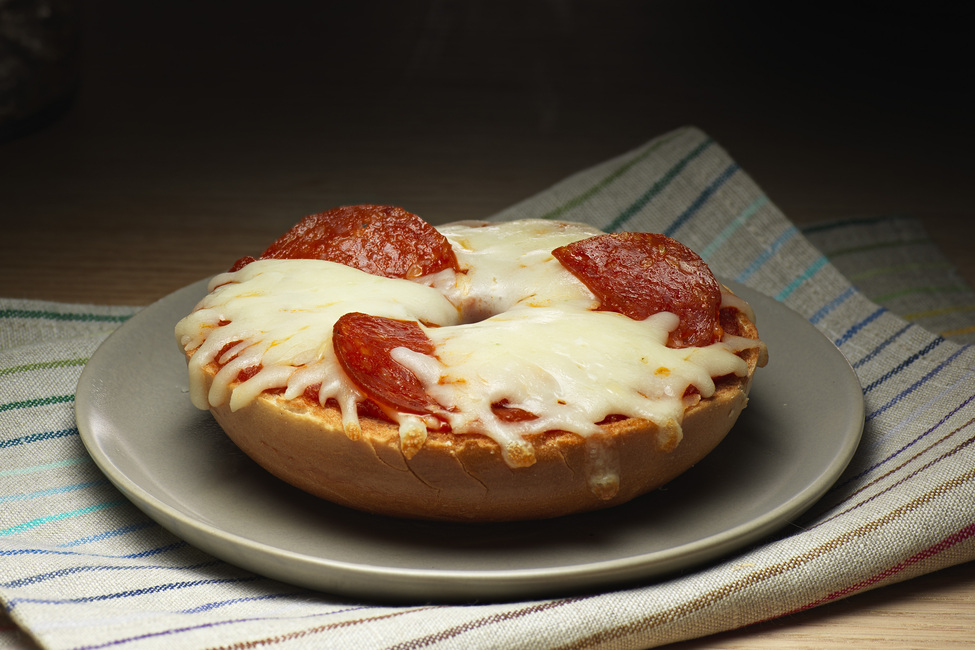 Pepperoni Pizza Bagel My Food And Family