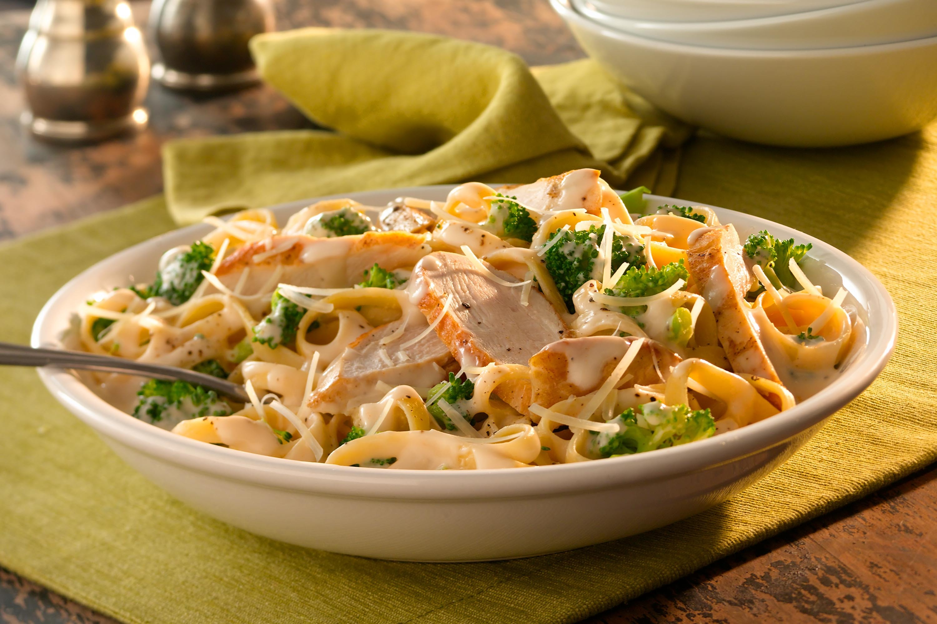 Fettuccine Alfredo with Chicken & Broccoli